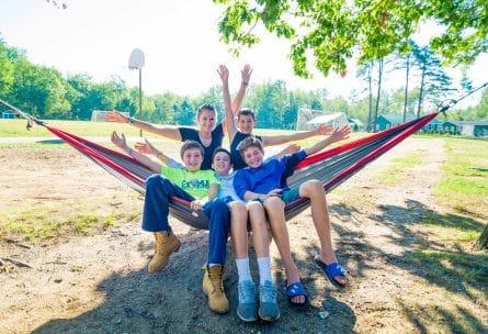 kids on hammock